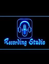 Recording Studio Microphone Advertising LED Light Sig