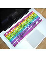 "Coosbo® Rainbow Silicone Keyboard Cover Skin for 11.6"",13.3"",15.4"",17"" Mac Macbook Air Pro/Retina"