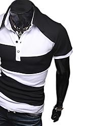Mark Men's Fashion Irregular Contact Color T-Shirt