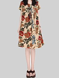 Die Blumen-Print Casual Dress