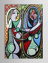 Hand Painted Oil Painting Famous Pablo Picasso Painting Girl in Front of Mirror Reproduction with Stretched Frame