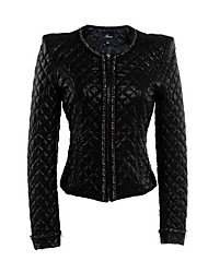 Women's PU Leather Short  Coat