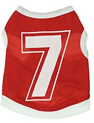 Stylish No.7 jersey Vest for Pets Dogs(Assorted Size)