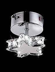 3W Modern/Contemporary Crystal Metal Flush Mount Living Room