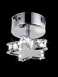 3W Modern/Contemporary Crystal Metal Flush Mount Living Room