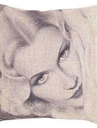 "Createforlife ® 18 ""х 18"" Квадрат Сексуальная звезда Мэрилин Монро Хлопок / Лен Декоративные подушки"