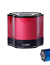KUBEI 290 Mini Portable V2.1 Bluetooth Speaker FM/ TF/ MIC/USB-(Silver / Red / Blue / Black)