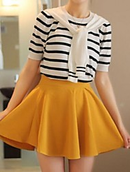 Women's Yellow Skirts , Casual/Cute Mini