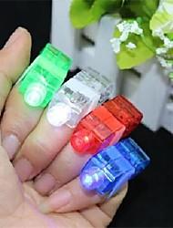 colorida a laser levou luz dedo 8 peças (cor aleatória)