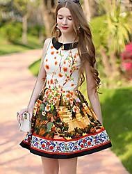 muñeco de color rosa collar de vestido del patrón sin mangas ® de la mujer pan floral