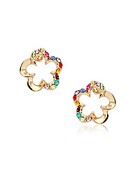 Stud Earrings Crystal Crystal Alloy Fashion Rainbow Jewelry Party Daily Casual 2pcs