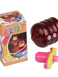 flash de plástico composto de madeira giroscópio (cor aleatória)