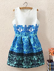 Women's Sleeveless Vintage Floral Printed Dress