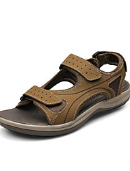 Chaussures Hommes - Décontracté - Noir / Marron / Jaune / Kaki - Cuir - Sandales