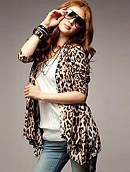 Women's Leopard Asymmetrical Long Sleeve