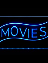 Movies Home Theater Advertising LED Light Sign