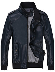 jaqueta de couro moda masculina