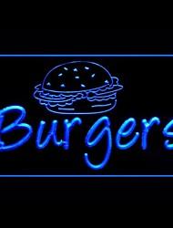 Гамбургер Чизбургер Реклама светодиодные Вход
