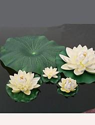 Simulação de diâmetro 28 centímetros flor de lótus aberta