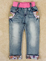 Girl's Cotton Jeans , Spring/Fall