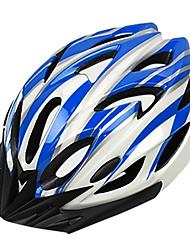 topo das montanhas 18 aberturas de PC + eps azuis e luz branca integralmente moldado capacete ciclismo (54-64 centímetros)