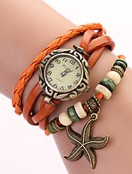 c&d boucle montre d'étoiles de mer (orange)
