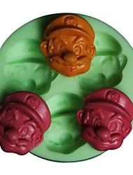 Super Mario Shaped Bake fandant mold,L7.2cm*W7.2m*H1.2cm