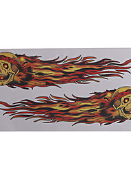 Motorcycle Stickers Flame Skull