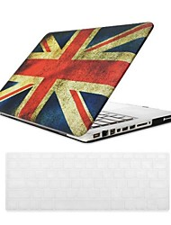 British Flag Design PC Hard Case with Keyboard Cover Skin for MacBook Pro