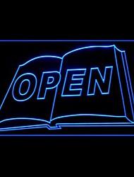 Книжный магазин Открыть Реклама светодиодные Вход