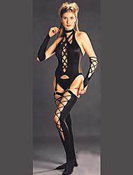 Hot Lady Black Terylene SM Style Gothic Lolita Corset