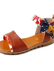 Sandales ( Jaune/Rouge ) - Cuir - Bout ouvert
