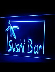 Sushi Bar Japanese Food Green Blue Red White Orange Purple Yellow Advertising LED Light Sign