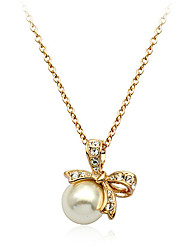 Jewelry Pendant Necklaces Party / Daily / Casual Crystal / Alloy / Imitation Pearl 1pc Women Wedding Gifts