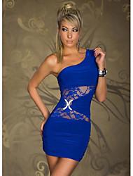 Mujeres de Exver un hombro Vestido de confección