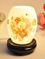 Aromall ® Fragrance Desk Lamp Desenho Tinta da China abajur Dimmer Interruptor resina de base rico Flor
