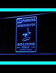 pas de publicité de stationnement conduit de lumière de signe