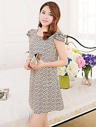 Women's Multi-color Dress , Casual/Print Short Sleeve