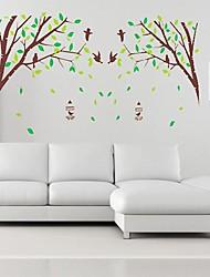 Createforlife ® Cartoon Big Tree Cages de pièce de crèche Wall Sticker Art Stickers muraux pour enfants