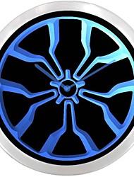 Neumático de la rueda del coche clásico de neón Regístrate LED reloj de pared