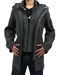 MEROKETTY®Men's Casual Warm Zipper Hoodies Woolen Coat