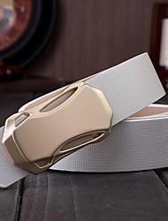 Herren-Rennwagen glatte Schnalle echten Ledergürtel