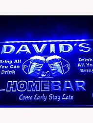 DZ001-b Name Personalized Home Bar Beer Family Name Neon Light Sign