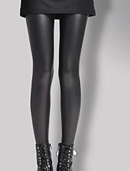 plus de velours des leggings en cuir verni des femmes