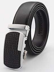 de los hombres de la correa de cuero genuino tirantes negocios automáticas cinturones de hebilla Cintos