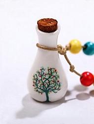 collana di ceramica che desiderano pendente della bottiglia di albero di amore delle donne