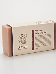 [Amini] Natural atopy skin major care handmade product Pink Clay Facial Soap Bar