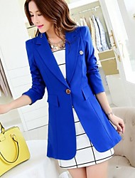 Women's Turndown Long Sleeve Midi Blazer