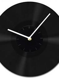 """11.8 """"estilo moderno w tudo goma preta mãos brancas relógio de parede"""