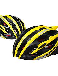 INBIKE unisex 25 respiraderos amarillo y negro de la PC + eps portátil moldeado integralmente-casco de bicicleta (58-60cm)